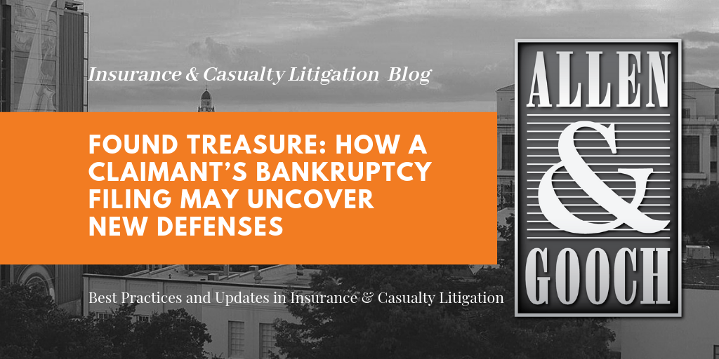 Found Treasure: How a Claimant's Bankruptcy Filing May Uncover New Defenses