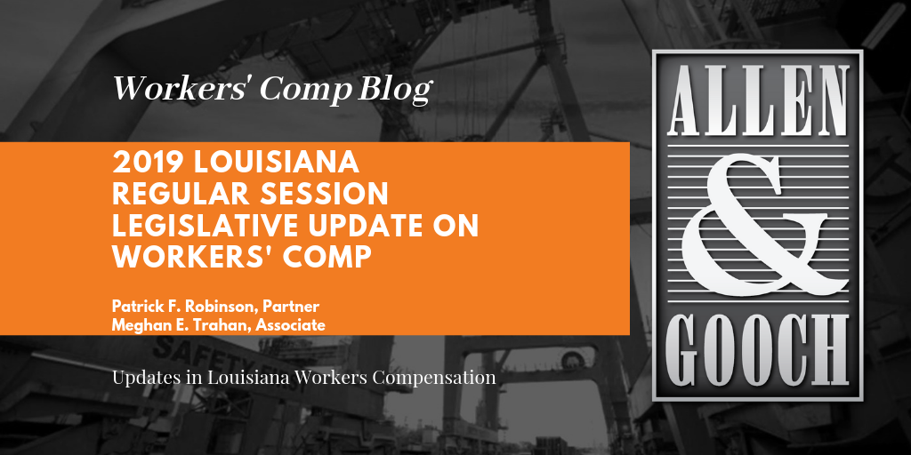 Legislative Update for Workers' Comp